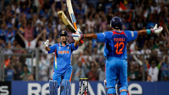 India win their home world cup in 2011