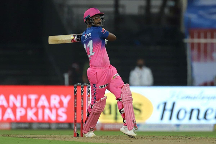 Sanju Samson opened his IPL 2021 accunt with a scintilating hundred