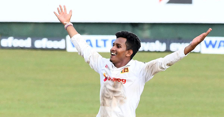 The youngster helped bowl Sri Lanka to victory over Bangladesh