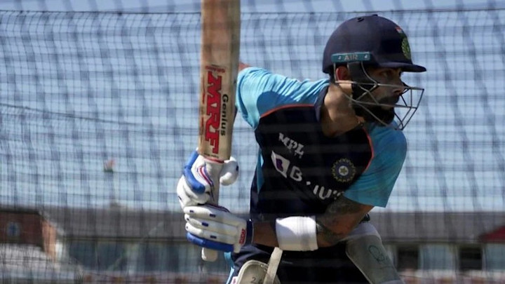 Virat Kohli looks in sublime touch in the nets.