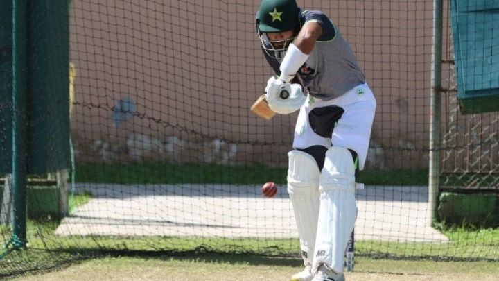 Babar Azam practicing in the nets