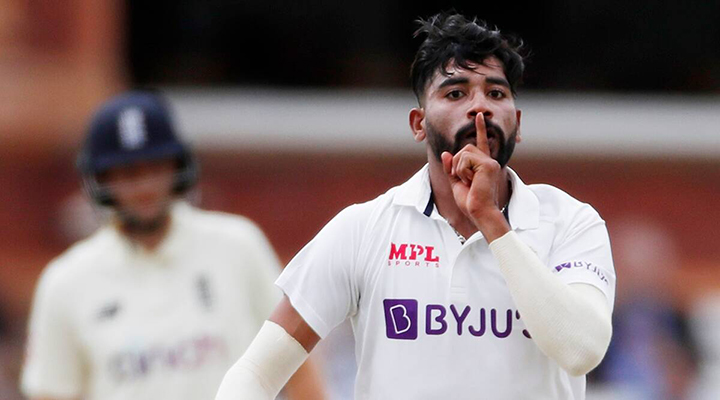 Mohammed Siraj took eight wickets in the test to silence England