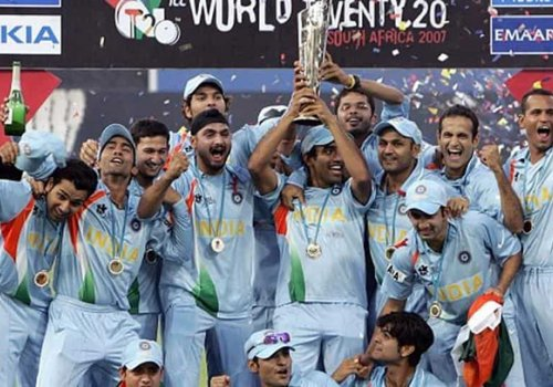 India winning the World T20 in 2007