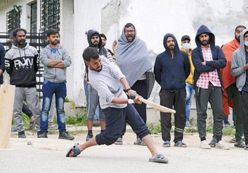 Refugees find solace in playing the great game of cricket