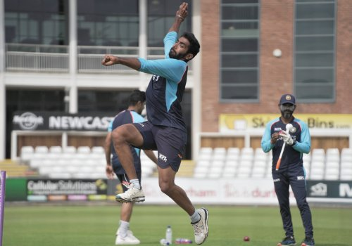Jasprit Bumrah in action ahead of the England Tests.