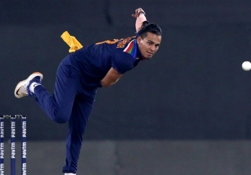 Rahul Chahar's acrobatic effort on the fence lifted India's spirits.