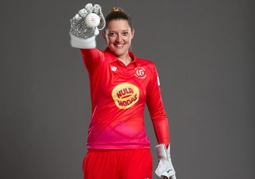 Sarah Taylor's crazy reaction speed has spectators in awe.