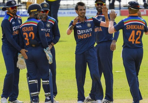 Yuzvendra Chahal picked two wickets on the trot.