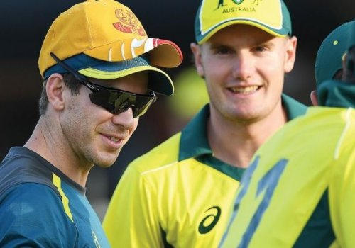 Australian youngsters pick the brains of Tim Paine.
