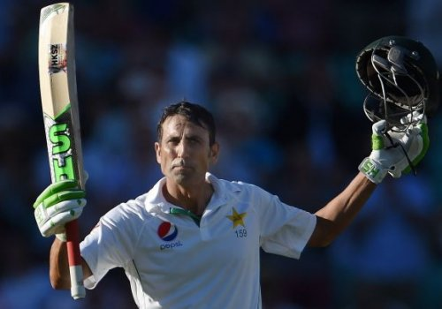 Younis Khan soaks in the applause.