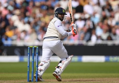Ravi Jadeja got a 50 and helped India to a useful score