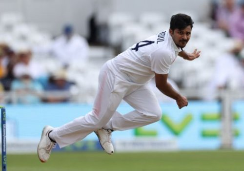 Shardul Thakur struck gold with Joe Root's wicket.