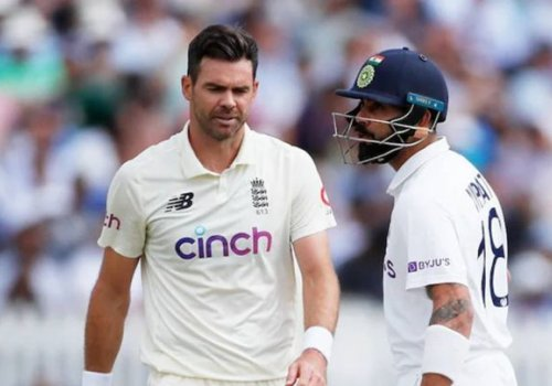 Virat Kohli's heated exchange with Jimmy Anderson.